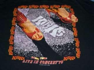 vtg THE KINKS 1979 SUPERMAN tour t shirt LARGE L RARE