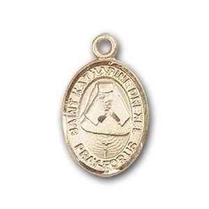 14kt Gold Baby Child or Lapel Badge Medal with St. Katherine Drexel