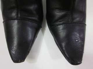 CALVIN KLEIN Black Leather Knee High Boots Sz 6