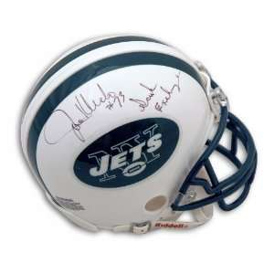 Joe Klecko Signed Jets Mini Helmet   Sack Exchange, 73