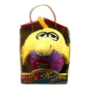 KooKoo Birds 2 Inch Flocked Mini Plush #103 Orange Crested