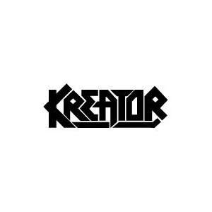 KREATOR BAND WHITE LOGO DECAL STICKER