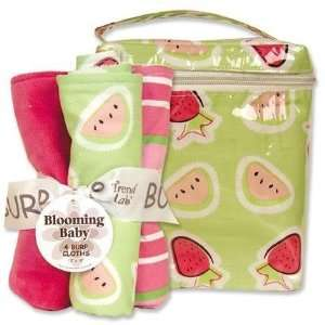 Trend Lab 21127 JUICIE FRUIT BOUQUET SET   BOTTLE BAG (# 101994) AND 4