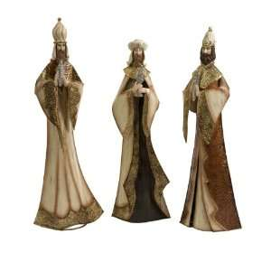Set of 3 Elegantly Dressed Wise Men Christmas Nativity