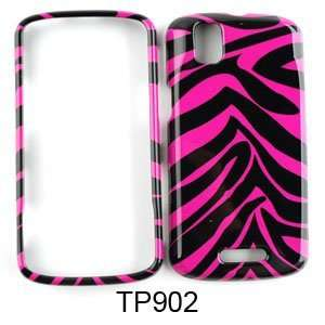 Pink and Black Zebra Stripe Pattern Snap on Cover Faceplate for