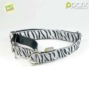 Zebra Stripes Pattern Two way Dog Collar   Medium Pet