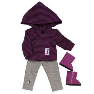 Doll Clothes   Girl Scout Jr. Hooded Shirt/Leggings Set Toys & Games