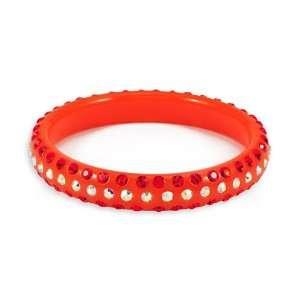 Round Orange Rainbow Swarovski Crystal Bangle Bracelet Jewelry