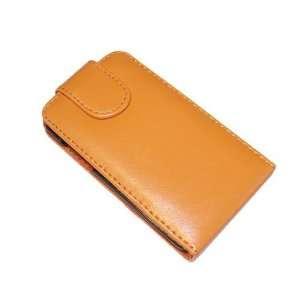 Modern Tech Orange Leather Flip Case for Apple iPod Touch
