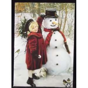 Snow Friends Holiday Christmas Cards, 18 Cards with Coordinating