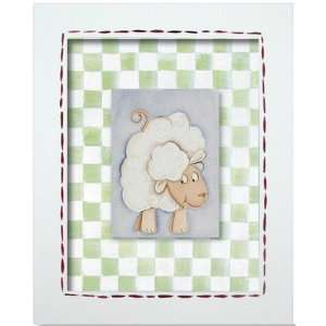 Western Sheep Framed Giclee Wall Art Color: Blue Frame: Home & Kitchen