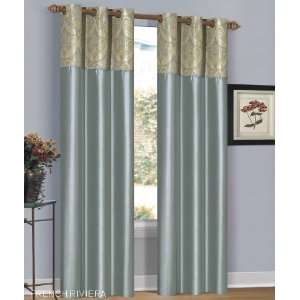 Riviera Mist Green Grommet Window Curtain Panel 40x84 Home & Kitchen