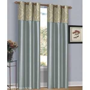 Riviera Mist Green Grommet Window Curtain Panel 40x84