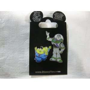 Disney Pin Buzz Lightyear and Green Men Toys & Games