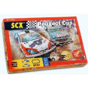 : SCX   1/32 Peugeot Cup US Oval Slot Car Race Set, Analog (Slot Cars