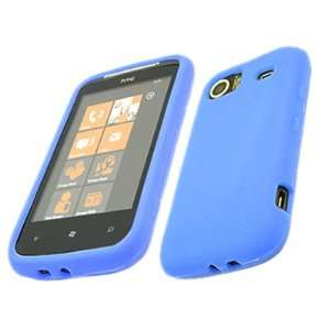 SoftSkin BLUE Silicone Case Cover Skin for HTC Mozart 7 Electronics