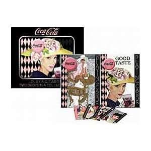 2 Decks Coke Good Taste Ladies in Collectible Tin Sports