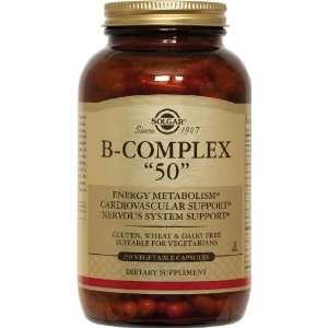 Solgar   B Complex 50, 50 mg, 250 veggie caps Health
