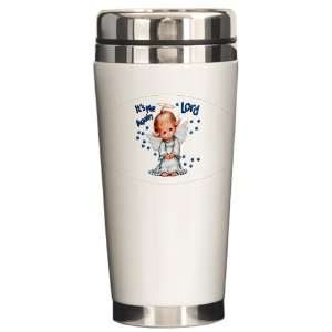 Ceramic Travel Drink Mug Its Me Again Lord Prayer Angel
