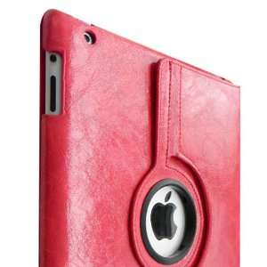 Fintie Red 360° Rotating Crazy Horse Skin Style PU