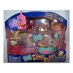 Littlest Pet Shop   Postcard Pets 3 pack (Squirrel, Cat