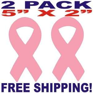 BREAST CANCER AWARENESS RIBBONS SOFT PINK DECAL STICKER VINYL BUMBER