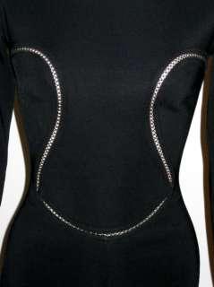 100% AUTHENTIC AZZEDINE ALAIA BLACK FISHNET BODY CON MINI DRESS X