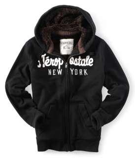 aeropostale mens aero appliqué full zip hoodie