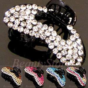 Item  Austrian rhinestone crystal fashion hair claw clip