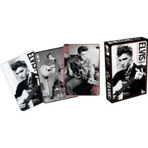 Elvis Presley Black & White Playing Cards