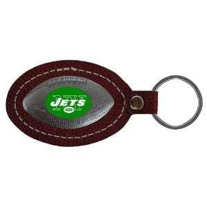 New York Jets NFL Football Key Tag (Leather) Sports