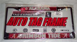 ALABAMA CRIMSON TIDE DELUXE DOMED CHROME LICENSE PLATE FRAME NEW