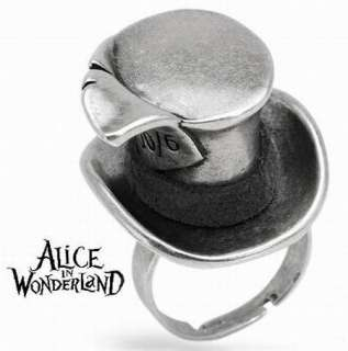 in WonderLand Mad Hatter Adjustable Ring Johnny Depp   NEW