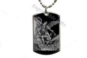 St. Saint Michael   Dog Tag Pendant Necklace