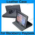 Leather folio case accessory black cocer for blackberry Playbook