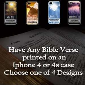 Verse Apple iPhone 4/4S case  Use Any Bible Verse