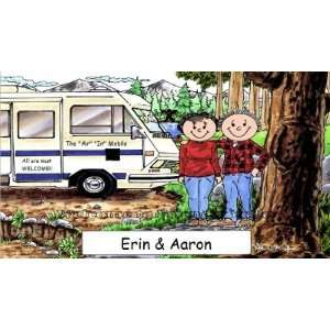 Recreational Vehicle RV Lover Personalized Cartoon Mouse Pad