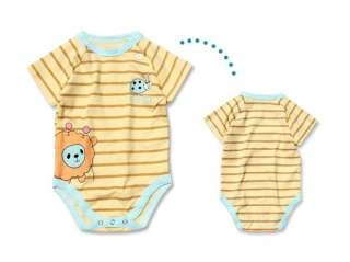 Yellow Stripe Baby Grow Bodysuit Romper Onesie All Size