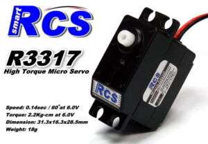 RCS R3317 18g RC Airplane Helicopter Micro Servo SS838