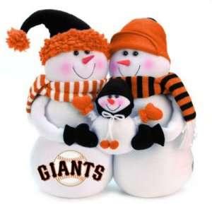 SAN FRANCISCO GIANTS SNOWMEN CHRISTMAS DECORATION