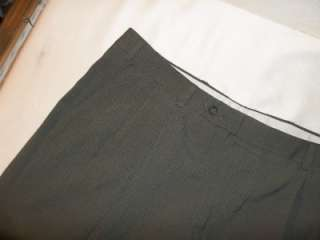 346 Brooks Stretch Gray Pleated Worsted Wool Dress Pants 40/28