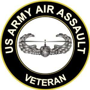 3.8 US Army Air Assault Veteran Decal Sticker: Everything