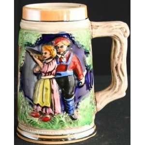 Vintage German Barware Ceramic Beer Stein Wiesbaden Castle
