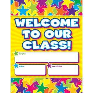 Scholastic TF2469 Graphic Stars Welcome Chart: Teachers