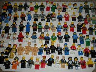 96 LEGO MINI FIGS FIGURES HATS WEAPONS ACCESSORIES SPACE KNIGHT POLICE