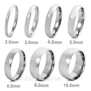 5MM Size 8 12 MENS SilVEr Stainless Steel Rings Wedding Band VE284