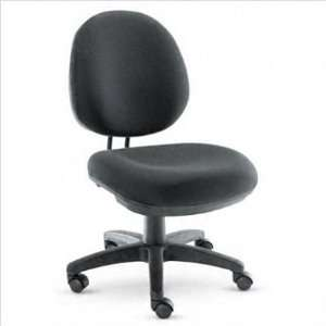 Swivel task chair with waterfall seat edge.: Furniture