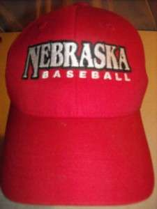 NEBRASKA HUSKER NCAA BASEBALL CAP~Adult,Adjustable,NEW