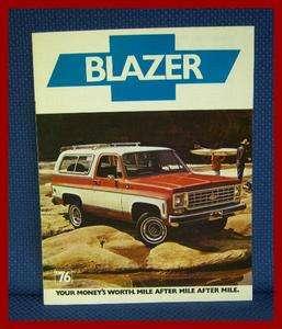 Chevrolet BLAZER Truck Sales Catalog Brochure   MINT New Old Stock