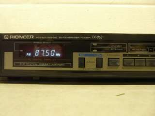 Pioneer TX 960 FM AM Digital Synthesizer Tuner